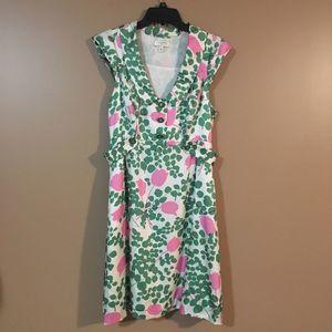 Moulinette Soeurs Silk Floral Dress w/ Pockets 12